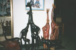 Carvings at Nairobi hotel shop