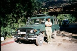 Anthon and his Land Rover