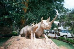 Rhino statue near Nairobi National Park