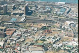 Parade grounds and fort from Table Mountain