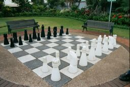 Chess set at Medwood Gardens